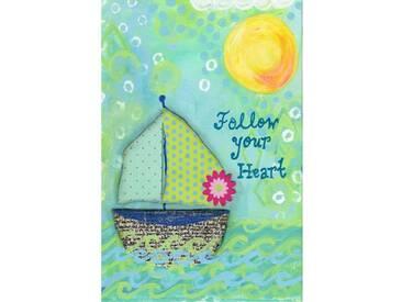 "Leinwandbild ""Sailboat"" von Jill Lambert, Kunstdruck"