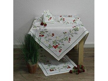 Tischdecke Erdbeerranke