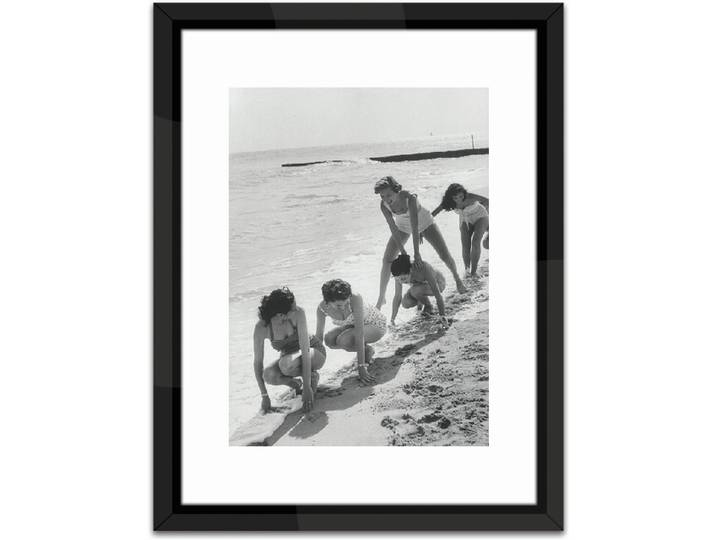 Models Playing Leap Frog Framed Photographic Pr...