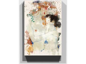 Leinwandbild Mother and Child Baby von Gustav Klimt