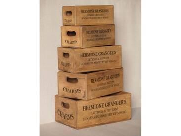 5-tlg. Kisten-Set Hermione Grangers aus Massivholz