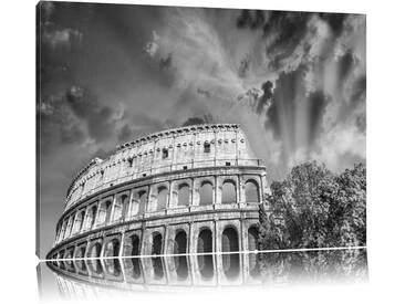 Leinwandbild ,,Klassisches Colosseum in Rom, Grafikdruck
