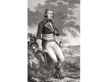 Leinwandbild Jean Victor Marie Moreau from an Engraving by Parmentier, from Histoire De La Revolution Francaise 1847-62, Kunstdruck von Louis Blanc