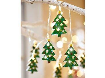 Lichterkette 10-flammig Weihnachtsbaum In Grün