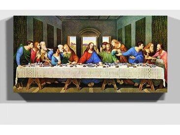 Leinwandbild Das letzte Abendmahl - Restaurierung von, Kunstdruck