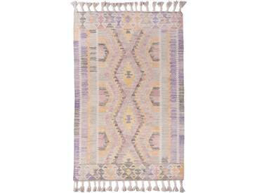Handgefertigter Teppich Vintage aus Wolle in Lila