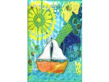 "Leinwandbild ""Boat"" von Jill Lambert, Kunstdruck"