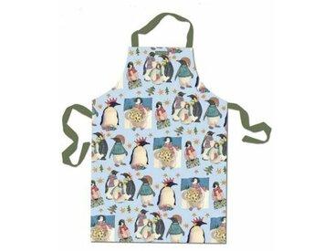 Küchenschürze Christmas Penguin aus Baumwolle