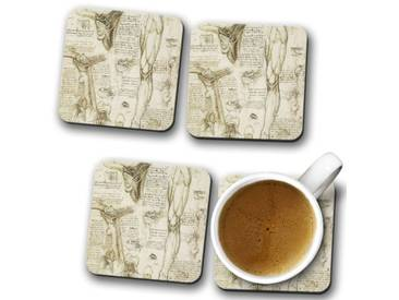 Glasuntersetzer-Set Leonardo da Vinci Anatomy 8