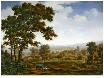 Leinwandbild Landscape, Kunstdruck von Joris Van Der Hagen