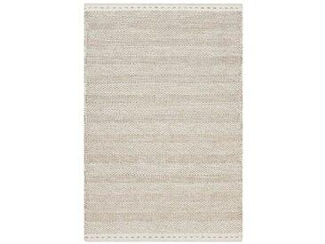 Handgefertigter Kelim-Teppich My Jaipur aus Wolle in Creme