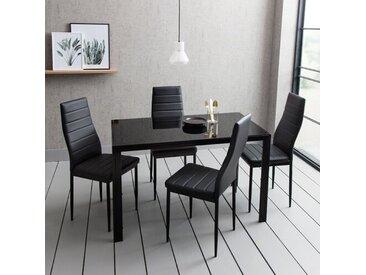Essgruppe Cecillia mit 4 Stühlen