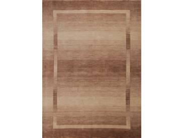Handgefertigter Teppich Empire aus Wolle in Braun
