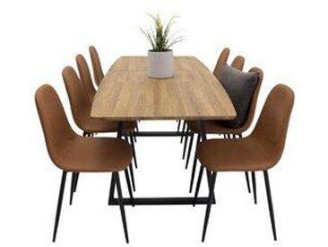 Essgruppe Nevis mit ausziehbarem Tisch und 8 Stühlen