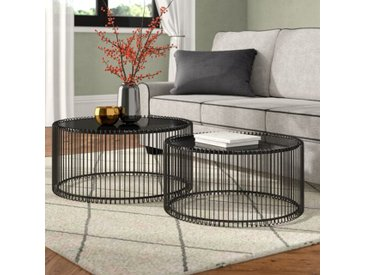 2-tlg. Couchtisch-Set Wire