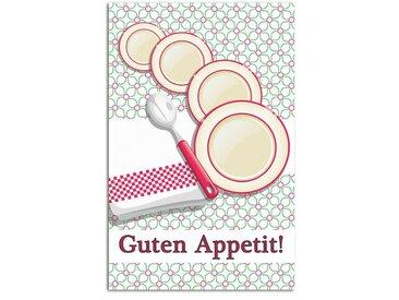 Wandsticker Guten Appetit!, Teller, Löffel