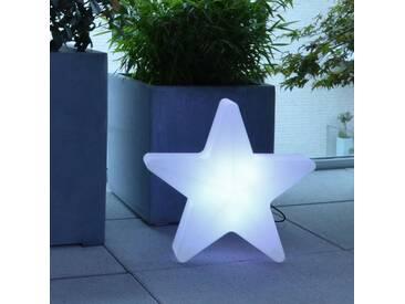 LED Stern Leuchte 1-flammig in Weiß