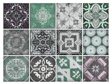 12-tlg. Selbstklebendes Mosaikfliesen-Set Wilma aus PVC