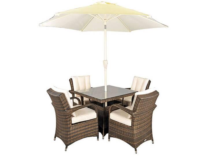 4-Sitzer Gartengarnitur Harpenden mit Sonnensch...