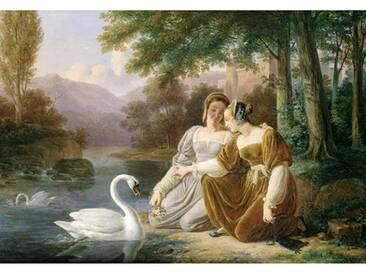 """Wandbild """"Chatelaines"""" von Pierre Henri Revoil, Kunstdruck"""