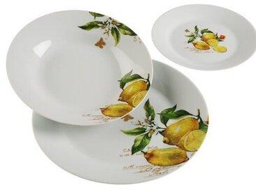 18-tlg. Tafelservice Seyfried Lemon aus Porzellan für 6 Personen