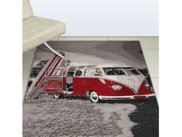Teppich Camper Van in Rot