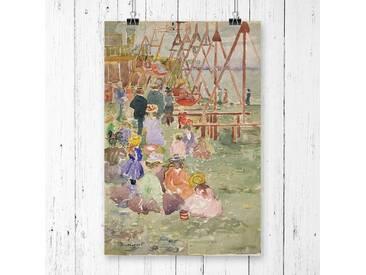 "Poster ""Swings Revere Beach"" von Maurice Pendergrast, Kunstdruck"