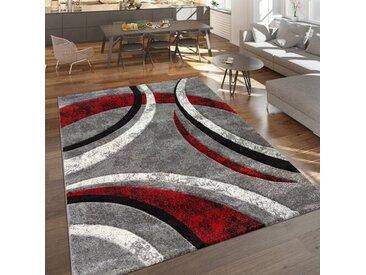 Teppich Hailee in Grau/Rot