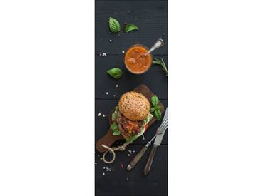 Glasbild Veggie Burger II, Fotodruck