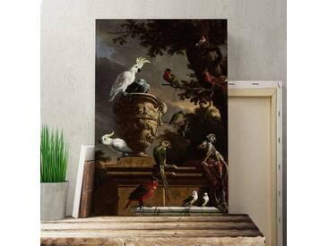 """Leinwandbild """"Monkeys and Birds"""" von Melchior dHondecoeter, Kunstdruck"""
