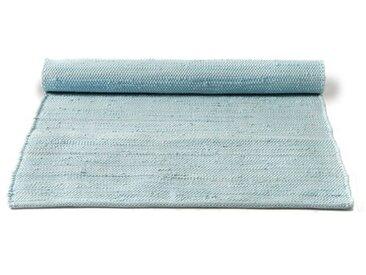 Handgefertigter Teppich aus Baumwolle in Daydream-Blau