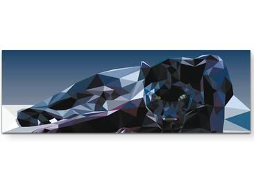 Leinwandbild Geometrischer Panther