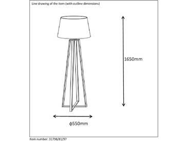 165 cm Spezial-Stehlampe Coffee