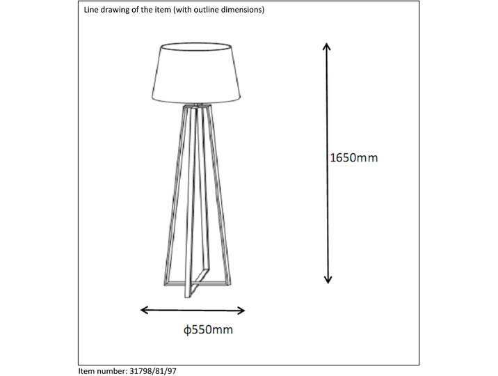 165 cm Spezial-Stehlampe Coffee Braun