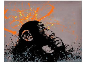Leinwandbild Thinker Monkey von Banksy