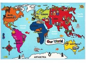 Fußmatte Anjali World Map