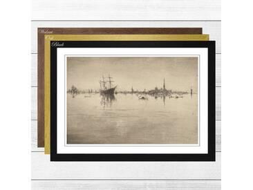Gerahmtes Poster Nocturne (3) von James Abbott McNeill Whistler
