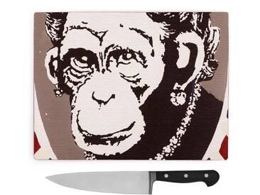 Schneidebrett Banksy Monkey Queen Wall Graffiti Art