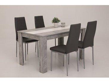 Essgruppe Crivello mit 4 Stühlen