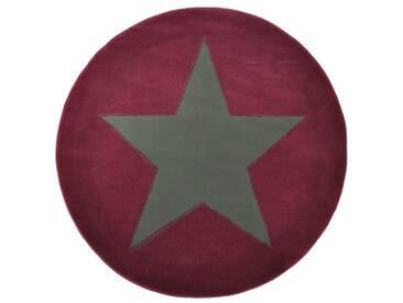 Teppich Star in Dunkelrot