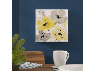 Leinwandbild Artissomo Yellow and Silver Poppies von Tre Sorelle Studios