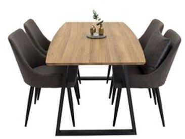 Essgruppe Nevis mit klappbarem Tisch und 4 Stühlen
