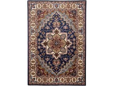 Handgefertigter Teppich Classic aus Wolle in Blau