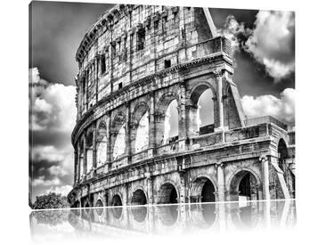 Leinwandbild Kolosseum in Rom in Monochrom