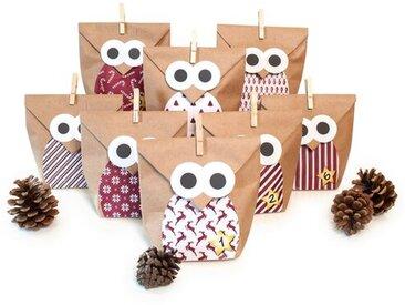 Adventskalender Christmas Owl Red