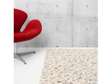 Teppich Patchwork aus Baumwolle in Grau