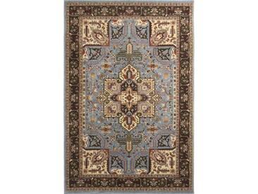Teppich Barstow in Braun/Blau