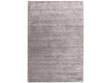 Handgefertigter Teppich Marshall in Silber