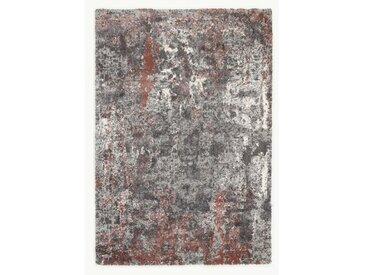 Shaggy-Teppich Glessite in Rot/Grau