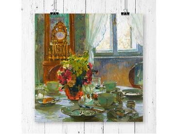 Wandbild The Breakfast Table von Carl Moll, Kunstdruck